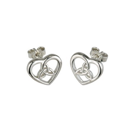 Sterling Silver Celtic Love Knot Earrings