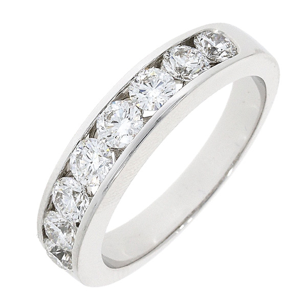 Engagement Rings Galway: 18CT White Gold 8 Diamond Channel Set Ring