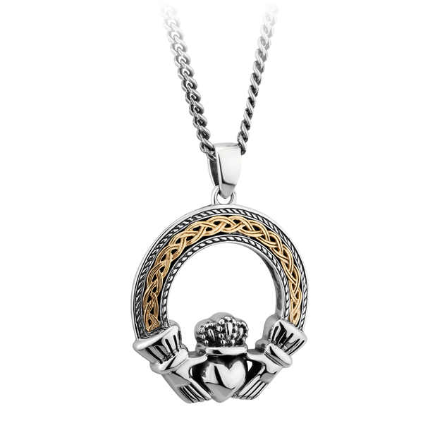 claddagh doyle small set in with sterling silver topaz pendant gemstone products