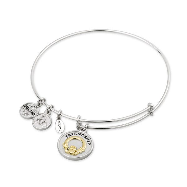 Sterling Silver Celtic Friendship Bangle Solvar Fallers