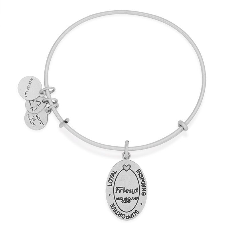 Alex Ani Friend Charm Bangle Rafaelian Silver