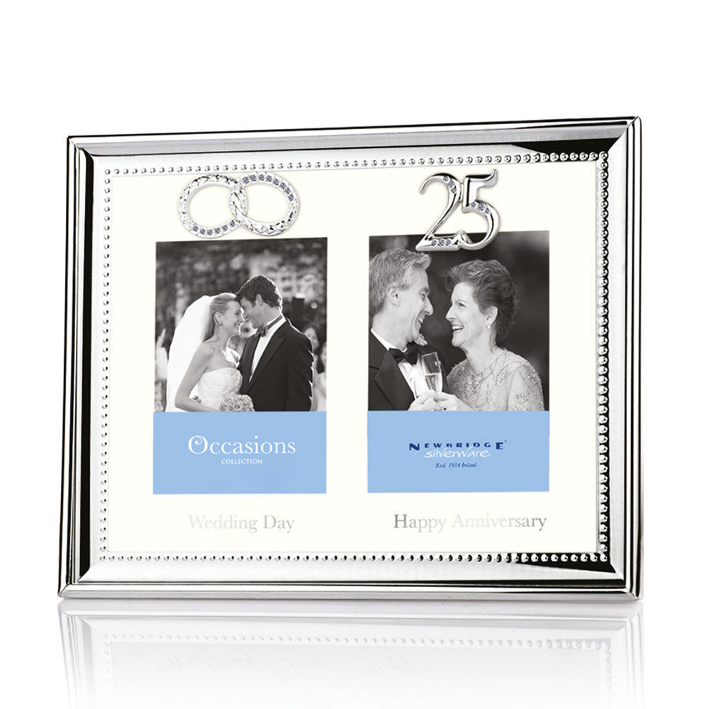 25th Wedding Anniversary Silver Picture Frames Picture Frame Ideas