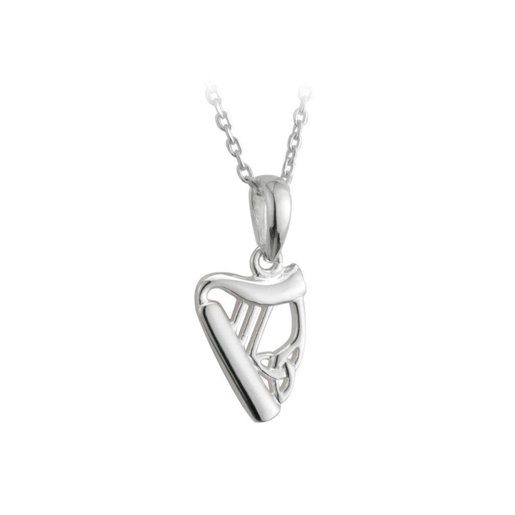 Sterling silver dainty harp pendant solvar fallers fallers sterling silver dainty harp pendant aloadofball Gallery