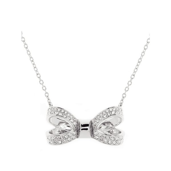 c30050a78a1a7 Ted Baker OLIRA Pave Bow Pendant