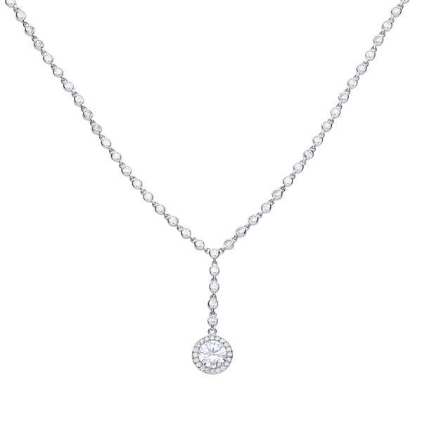 b8e72b456f0754 Diamonfire Y Collier Zirconia Necklace. 318.77$ · Diamonfire Zirconia  Interlocking Rings Necklace