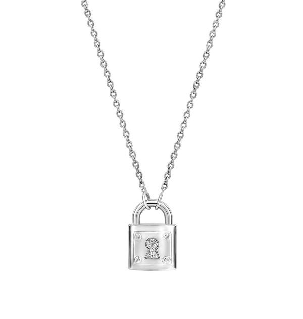 Ti Sento Milano Necklace with Padlock pendant in sterling silver