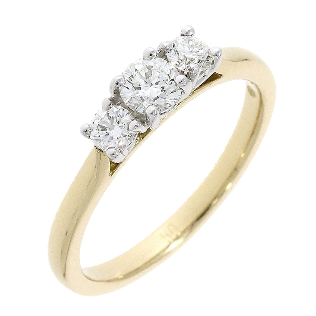 Engagement Rings Galway: 18K Gold Trilogy Diamond Ring