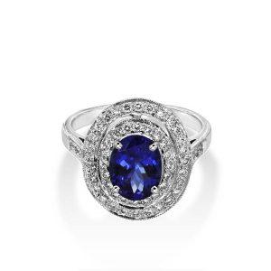 White-Gold-Tanzanite-Diamond-Ring